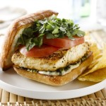 Baja-Alaska Halibut Sandwich