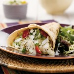 Alaska Halibut Tacos with Cucumber Salsa