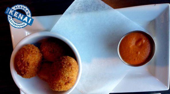 risotto balls chinooks restaurant seward alaska