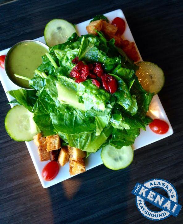 house salad chinooks restaurant seward alaska