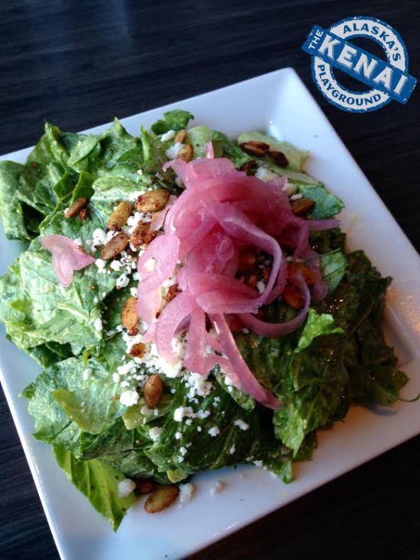 southwest caesar salad chinooks bar and grill seward alaska