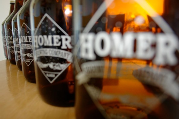 Homer Brewing Company Growlers