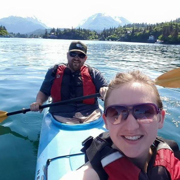 KPTMC's own Keith Baxter with his beautiful wife Desiree enjoying Halibut Cove, AK.