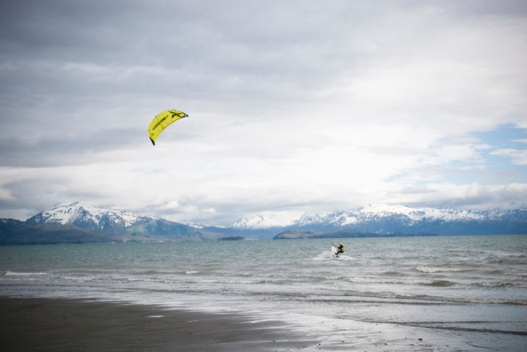 Beautiful photo at Mariner Park in Homer, AK from Kite Surf Atlas.