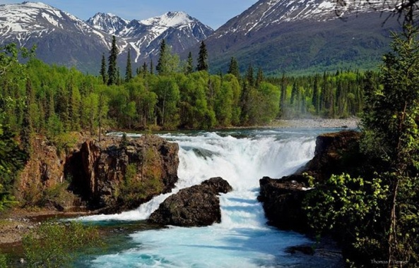 Tanalian Falls in Lake Clark National Park & Preserve. Photo from Tom Tessier.