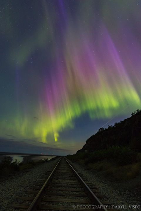 Photo from Daryll Vispo Photography‎ at the Turnagain Arm/Seward Highway.