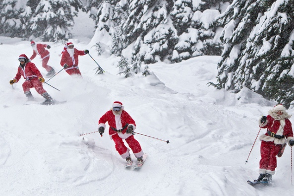 600 Santa's Ski for Free at Alyeska Resort