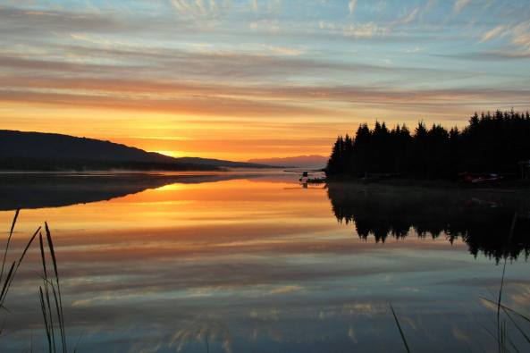 Sunrise over Beluga Lake, in Homer, Alaska. Photo from Laura Maciariello.‎
