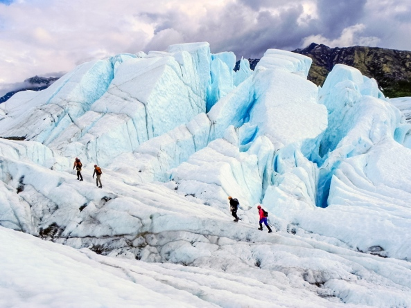 Photo of Exit Glacier near Seward, Alaska from www.alaska.org.