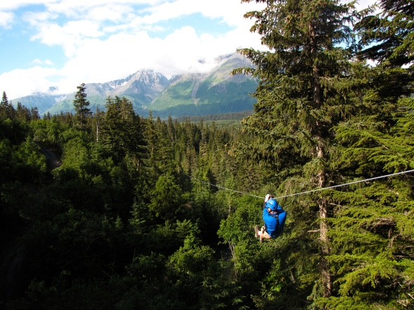 Stoney Creek Canopy Adventures in Seward, Alaska.
