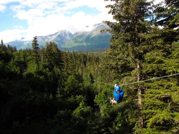 Stoney Creek Canopy Adventures in Seward, Alaska.