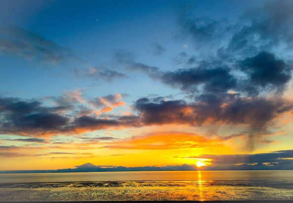 Kenai Beach Sunset 4.16