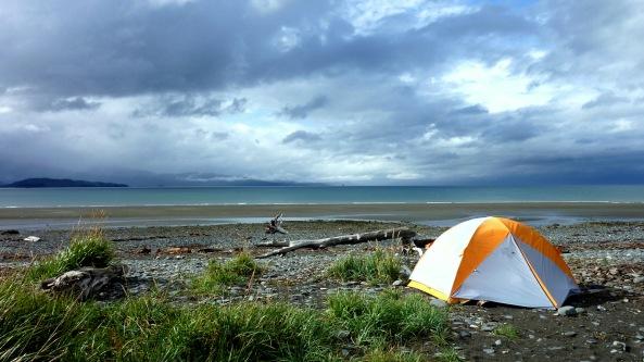 Homer, Alaska - Tent on Homer Spit